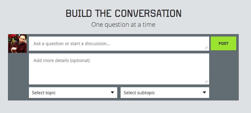 Asking a new question on Procurious.com