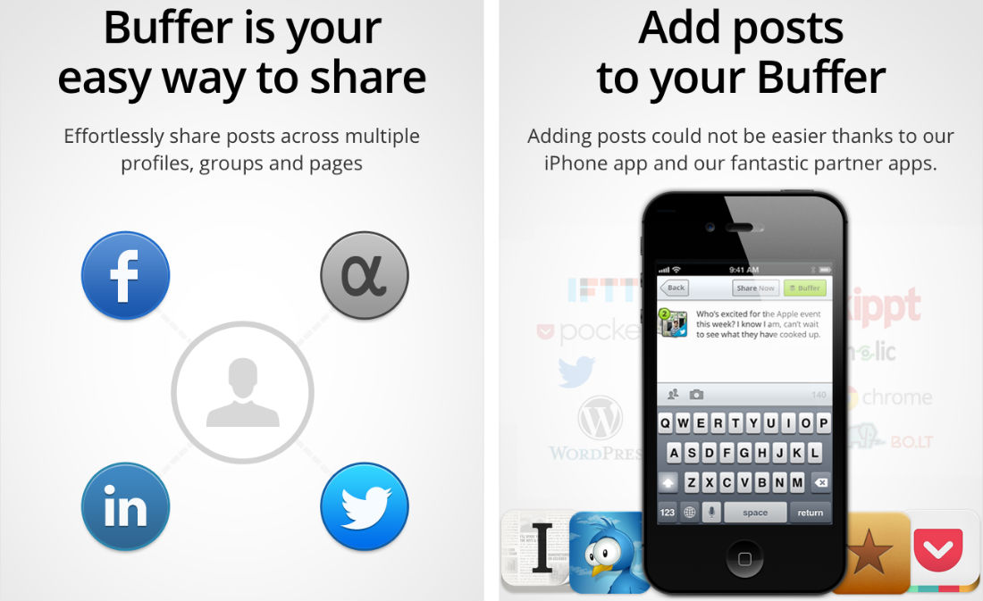 Best productivity tools: Buffer app for iOS and Android