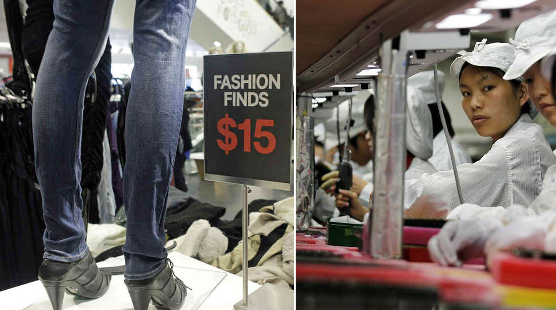 Modern slave trade in fast fashion and electronics