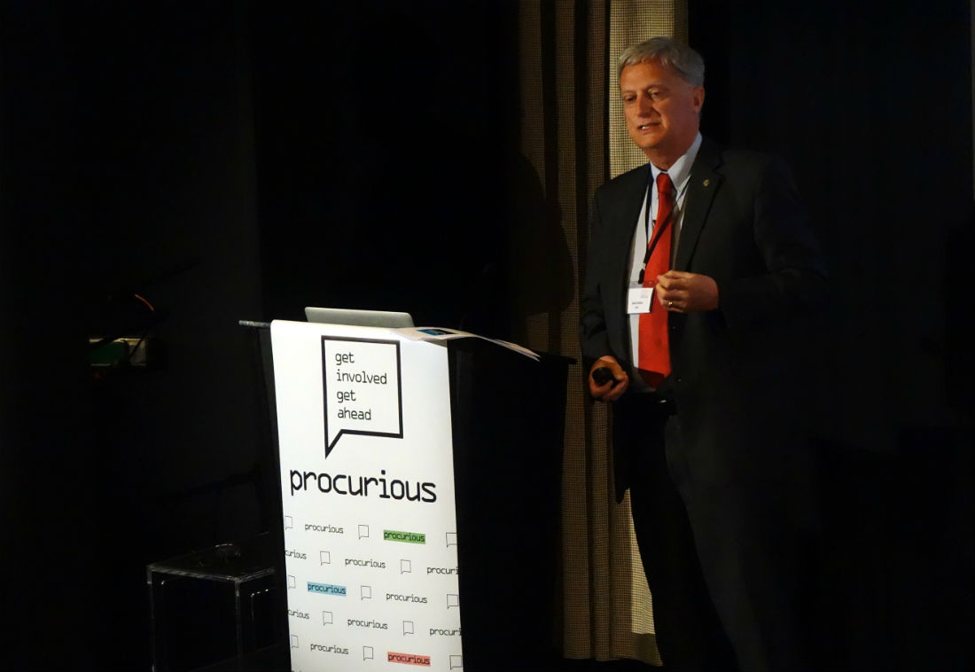 CIPS David Noble speaking at Procurious Big Ideas Summit