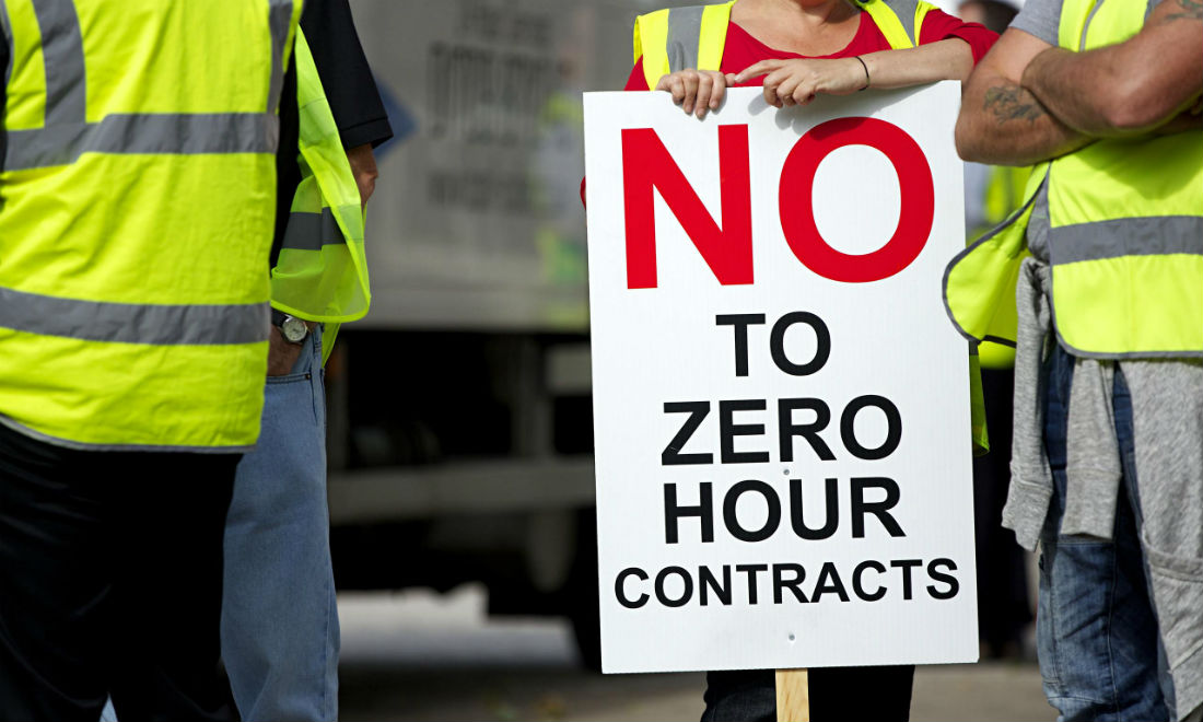 The ONS has revealed a 6 per cent increase in zero-hours contracts